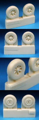 1/72 BarracudaCast Spitfire 3 Slot Wheels - Circumferential Tread-BR72107