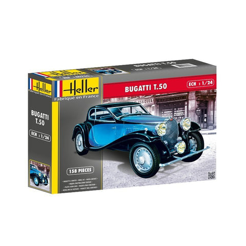 Heller 1/24 Bugatti T.50 Model Kit #80706