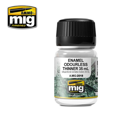Ammo Mig Jimenez ENAMEL ODOURLESS THINNER 35ml jar - AMIG2018