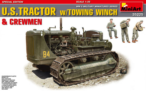 MiniArt 1/35 scale U.S. TRACTOR w/Towing Winch & Crewmen - model kit #35225