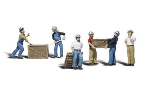 "Woodland Scenics O Scale Scenic Accents ""Dock Workers"" (6pcs) - A2729"