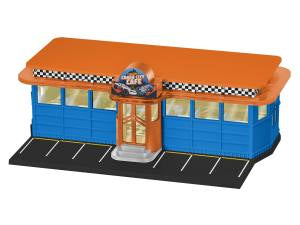 Lionel O Gauge #1929080 Hot Wheels Crash City Cafe Plug-Expand-Play building