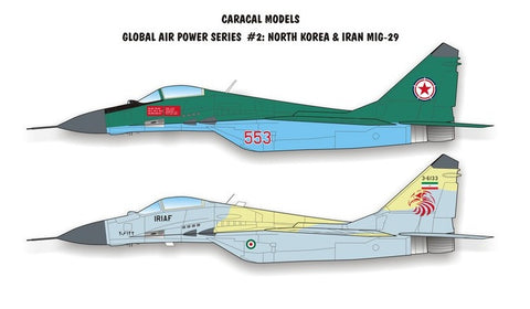 Caracal Models 1/32 decal MiG-29 for Revell Iran & more CD32002