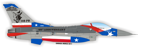 Caracal Models 1/48 decal Texas ANG Lone Star Gunfighters F-16C CD48009