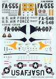Caracal Models 1/48 decal Cold War Interceptor F-94C Starfire Kittyhawk CD48017