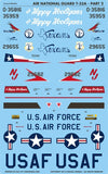 Caracal Models 1/48 decal T-33 Shooting Star Air National Guard Pt 2 CD48018