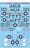 Caracal Models 1/48 US Navy/USMC AD-5/A-1E Skyraider decal for Revell CD48050