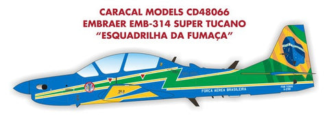 Caracal Models 1/48 decal EMB-314 Super Tucano Esquadrilha da Fumaca