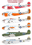 Caracal Models 1/48 decals CD48076 C-45 Expeditor Pt 1