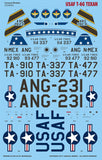 Caracal Models 1/48 Decal USAF T-6G Texan - CD48098