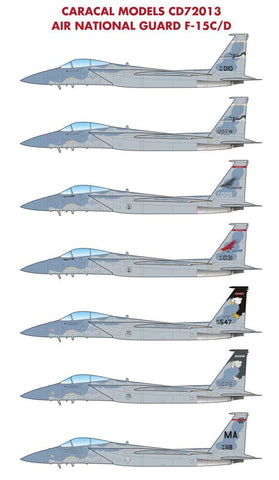 Caracal Models 1/72 ANG F-15C/D Eagle decal for Hasegawa - CD72013