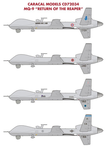 "Caracal Models 1/48 decals for MQ-9 ""Return of the Reaper""  CD48077"