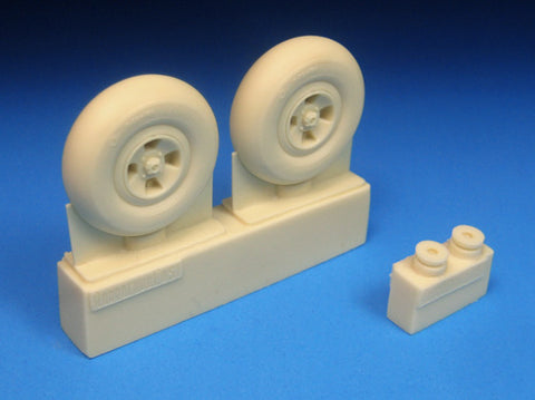 Barracuda Cast 1/32 BR32335 resin Spitfire Four Slot Mainwheels for Revell TMY