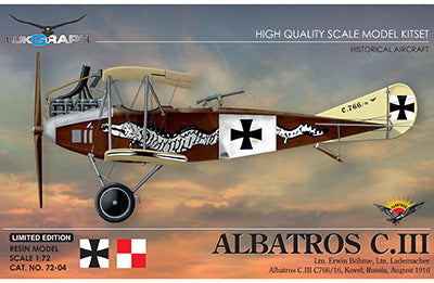 Lukgraph 1/72 resin model kit of the ALBATROS C.III - 72-04 Limited Edition