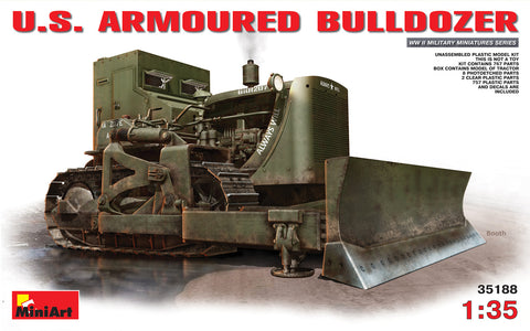 MiniArt 1/35 scale U.S. ARMOURED BULLDOZER - model kit #35188