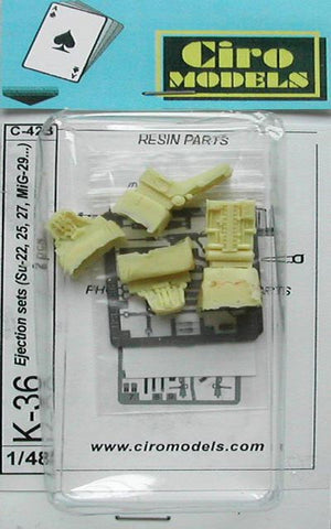 Ciro Models 1/48 resin Russian ejection seats for Su-22, 25, MiG-29 etc K-36 seats
