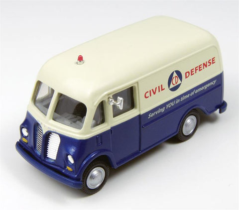 Classic Metal Works - Mini Metals HO scale RTR International Metro Van (Civil Defense) #CMW30405