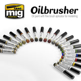 AMMO of Mig Jimenez Oilbrusher for detail painting and touch ups - Choose your color!