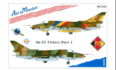AeroMaster 1/48 decals East German AF Su-22 Fitters, Part 1 - AM48246