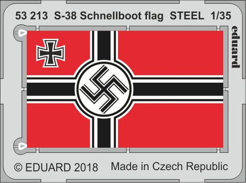 Eduard 1/35 Photoetch detail 53213 - S-38 Schnellboot flag STEEL for Italeri