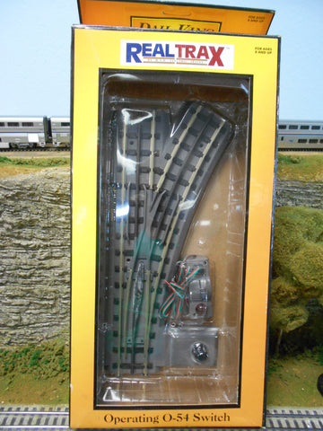 Rail King MTH O Gauge RealTrax operating O-54 Switch (R) 40-1055 New Old Stock