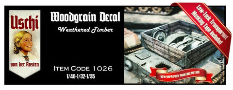 Uschi Decals 1/48 1/32 1/35 - Weathered Timber - USH1026