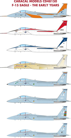 Caracal Models 1/48 decals for F-15 Eagle The Early Years by Hasegawa - CD48150