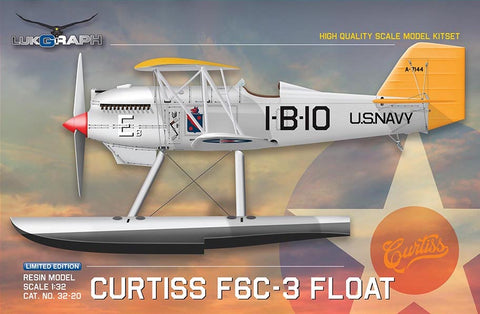 Lukgraph 1/32 scale Curtiss F6C-3 FLOAT US Navy aircraft resin kit 32-20