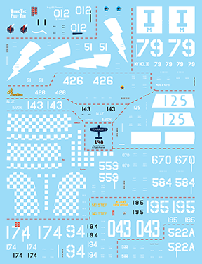 Fundekals 1/32 Decals for F4U & FG Corsairs kits Whistling Death pt 2 - FUN32007