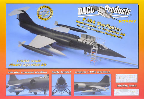 DACO Products 1/48 F-104 Starfighter Improvement & Completion Set for Hasegawa