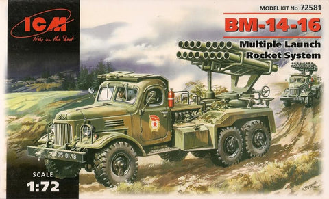 ICM Models 1:72 BM-14-16 Multiple Launch Rocket System - 72581- Second Hand