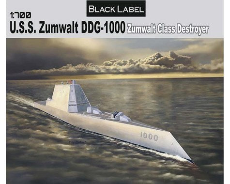 Dragon 1/700 Scale USS Zumwalt DDG-1000 Zumwalt Class Destroyer - #7141