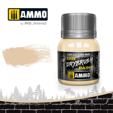 Ammo by Mig Dio Drybrush dense acrylic paint #0625 Light Skin - 40mL