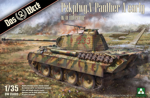 Das Werk 1/35 scale Panther A Early Production W/O Interior Kit# DW35009