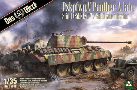 Das Werk 1/35 scale Panther A Late Production 2 in 1 W/O Interior Kit# DW35011