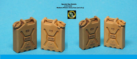 Special Ops 1/16 scale Modern Equipment Miniature resin Water Cans Set (x 4)