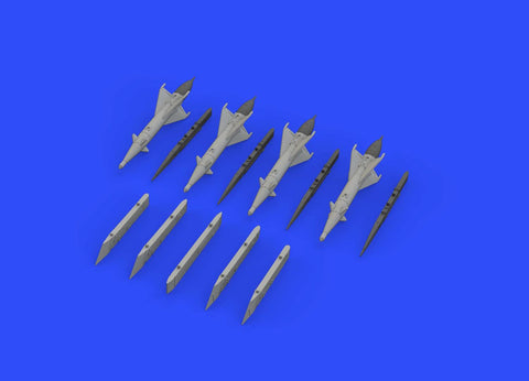 Eduard 1/72 Brassin set RS-2US missiles w/pylons for MiG-21 by Eduard - 672192