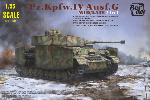BORDER MODEL 1/35 SD.KFZ. 161 PZ.KPFW. IV AUSF. G MID/LATE 2 IN 1 BT-001