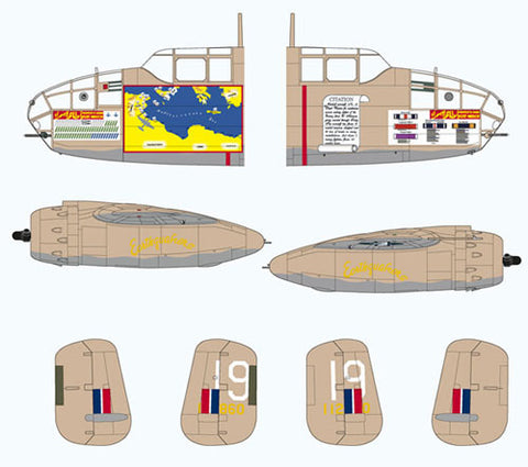Lifelike 1/72 decal correction for Desert Warrior B-25C/D kit by Airfix 72-SP-01