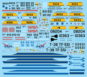 Fundekals 1/48 scale Decals for NASA Northrop T-38 Talon kits - FUN48003