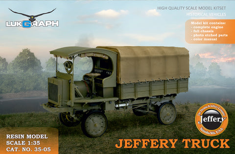 Lukgraph 1/35 scale resin kit WWI Jeffery Truck (Nash Quad) #35-05
