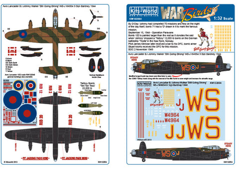 Kits-World 1/32 decals Avro Lancaster B.I Johnny Walker for HK Models - 132054