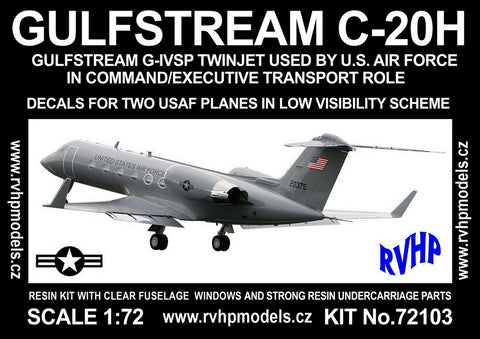 RVHP 1/72 Gulfstream C-20H Command/Executive 2 Lo-vis USAF options - RVH-72103