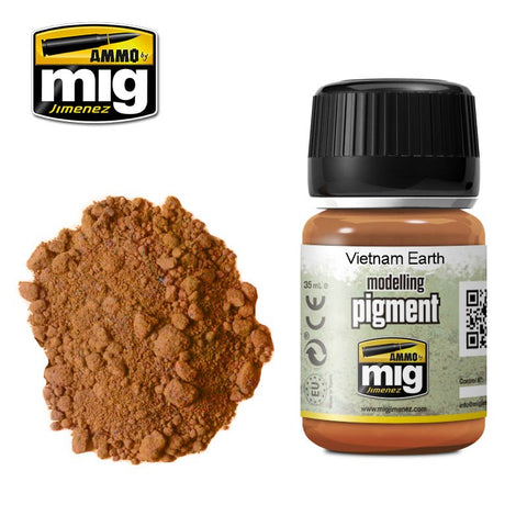 Ammo Mig Jimenez VIETNAM EARTH pigment (powder) - AMIG3022 35mL