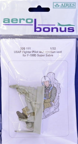 Aerobonus 1/32 scale resin USAF Pilot for F-100 with ejection seat - 320111