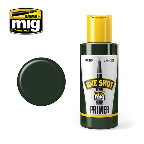 AMMO of Mig Jimenez ONE SHOT PRIMER - GREEN - AMIG2028