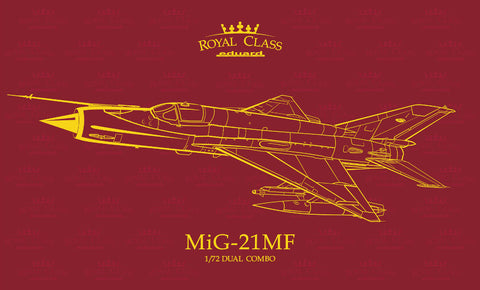 Eduard 1/72 scale 2 full MiG-21MF model kits from Moscow and Gorki plants - R0017