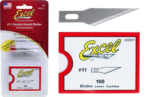 Excel #11 Double Honed Blades (100pk) - #22611