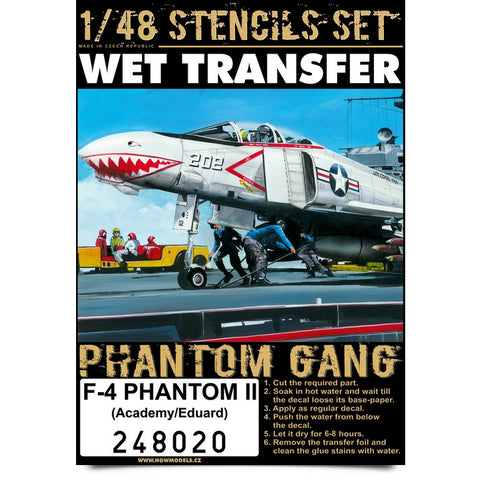 HGW 1/48 stencils Wet Transfers F-4 Phantom II - #248020 - Eduard and Academy
