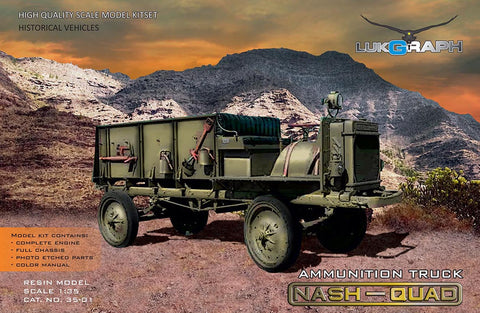 Lukgraph 1/35 scale resin WWI Nash-Quad Ammunition Truck model Kit - #35-01
